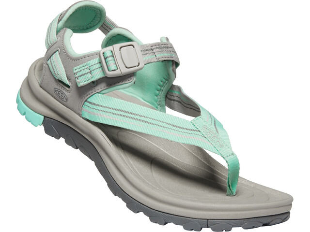 Keen Terradora II Sandalias de Dedo Mujer, light gray/ocean wave